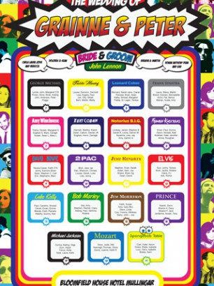 Pop Art Seating Planner