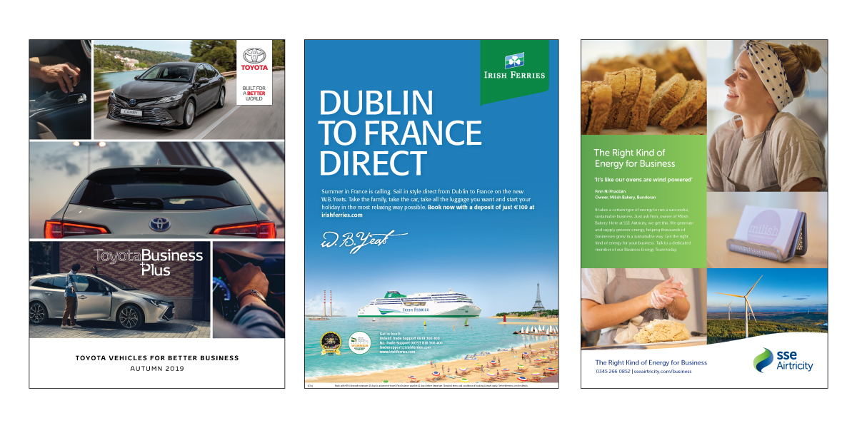 Toyota, Irish Ferries, SSE Airtricity